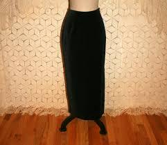 black velvet maxi skirt long black skirt pencil by magpieandotis