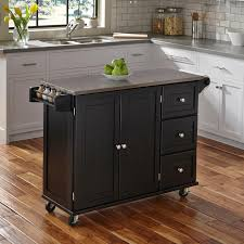 kitchen islands stainless steel top home styles liberty kitchen cart with stainless steel top hayneedle