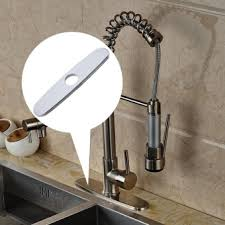 Kitchen Sink Faucet Hole Cover Solid Brass Nickel Brushed Kitchen Faucet Swivel Spout Kitchen