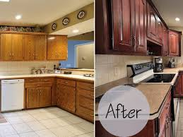 Kitchen Cabinet Facelift Ideas Kitchen Cabinets Kitchen Cabinet Refacing Before And After In
