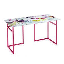 plateau verre bureau plateau de bureau en verre 150cm multicolore alinea 150 0x0