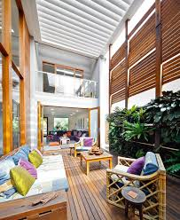 home courtyard a lush sydney eco house built around a living courtyard