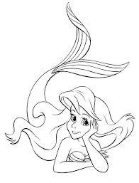 ariel mermaid coloring free download