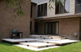 cantilevered deck contemporary multi level cantilevered concrete deck with built in