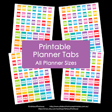 planner tabs printable daily planner rainbow add on agenda