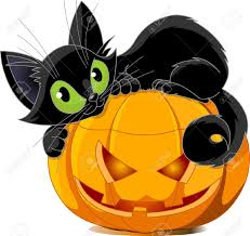 cute black and white halloween cat clipart free clip art images