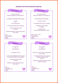 wedding invitation format sle wedding invitation wording program format