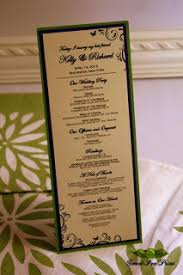 Tea Length Wedding Programs Sweet Pea Print Green Purple Champagne And Butterfly Wedding