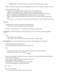 crossfit level 1 study sheet