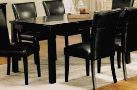 Faux Marble Top Dining Table Sale Dining Table With Black Faux Marble Top In Black Finish