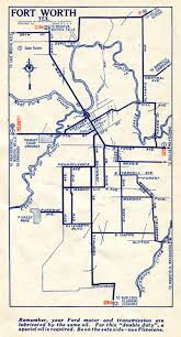 Fort Worth Map Old Highway Maps Of Texas