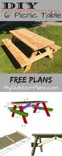 Build A Round Picnic Table by Best 25 Picnic Table Plans Ideas On Pinterest Outdoor Table