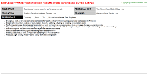 Test Engineer Resume Objective Test Engineer Infotainment Resumes Samples