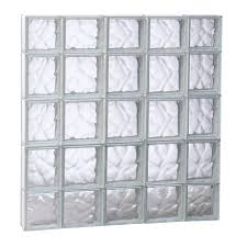 shop redi2set wavy pattern frameless replacement glass block