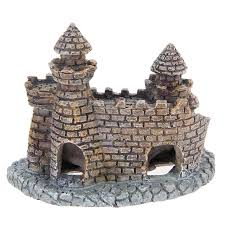 resin aquarium castle decorations fish tank castle tower