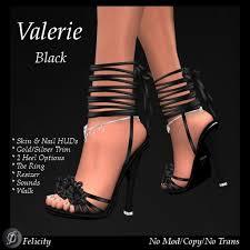 second life marketplace felicity valerie black high heels