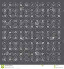 garden centre elements vector line icon collection indoor and