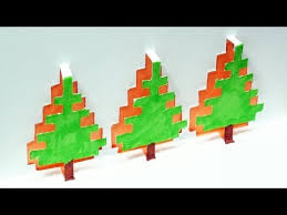 how to make a christmas tree pop up card free template