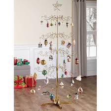 the 6 u0027 rotating ornament display tree hammacher schlemmer