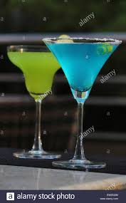 blue lagoon cocktail grinch cocktail and blue lagoon cocktail stock photo royalty free