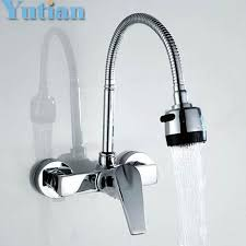 Wall Kitchen Faucet 2018 Brass Chrome Taps For Kitchen Sink Dual Wall Kitchen
