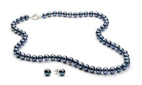 fashion black pearl necklace images 41 off on black pearl necklace and earr groupon goods jpg
