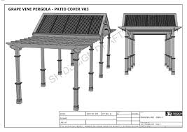 grape vine outdoor pergola patio cover veranda v3 full