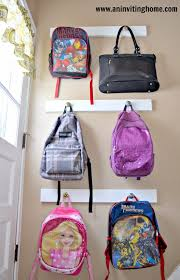 Backpack Storage by Easy Backpack Hanging Solution Using Cute Knobs From World Market