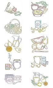 Machine Embroidery Designs For Kitchen Towels Machine Embroidery Designs Kitchen Multicolor Set