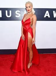 dress red red dress slit dress celebrity celebrity style red