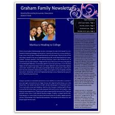 templates for word newsletters making a family newsletter in word tips and templates to download