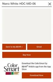 i found quietude using my colorsmart by behr mobile app paint