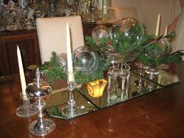 dining room christmas table settings decorations and