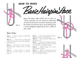 hairpin lace crochet basic hairpin lace archives vintage crafts and more