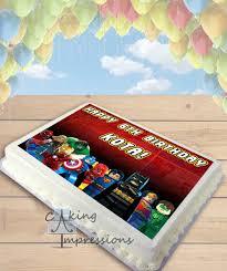 marvel cake toppers marvel vs dc lego superheroes edible image cake topper sheet