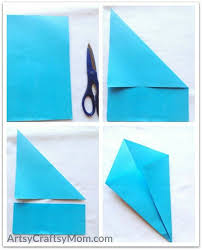 Easy Origami Peacock - easy origami whale craft for artsy craftsy
