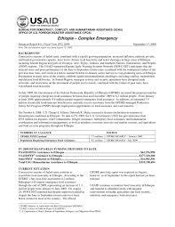 bureau int r complex emergency fact sheet 11 fiscal year fy 2009
