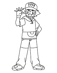 pokemon advanced coloring pages color pokemon trainers humans