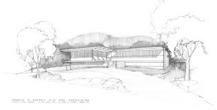 modern mid century exterior house sketch drawing google search
