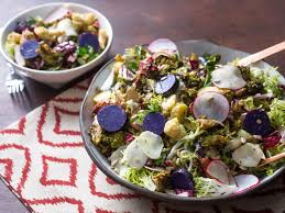 easy thanksgiving salads fall harvest salad with roasted brassicas fingerlings and