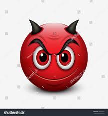 halloween background emoji devil emoticon isolated on white background stock vector 546001654