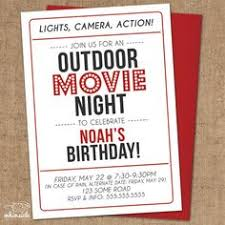 Backyard Movie Party by Movie Night Birthday Invitation Under The Stars Invitation Outdoor