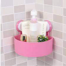 Suction Cup Bathroom Shelf Shower Caddy Corner Bath Storage Bathroom Accessory Rack Holder