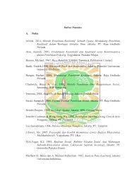 daftar pustaka merupakan format dari daftar pustaka eskripsi universitas andalas