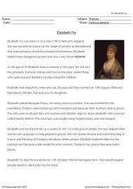 primaryleap co uk reading comprehension elizabeth fry worksheet