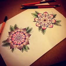 lovely color flower mandala by ifigeneia sake tattoo crew