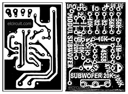 subwoofer module amplifier using 4558 with pcb electronic circuit
