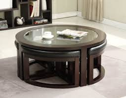 coffee tables attractive round coffee table storage ottoman