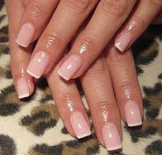 french manicure on short nails very simple and just perfect