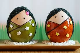 Easter Egg Decorating Ideas Competition by Thirsty For Tea Kokeshi Easter Eggs